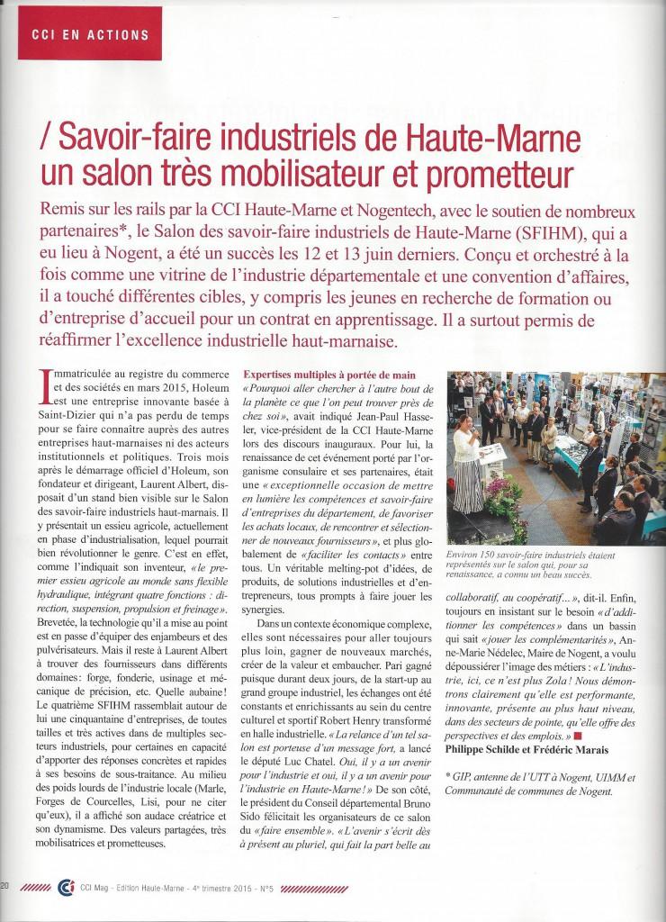 CCI Mag 52 -4ème trimestre 2015
